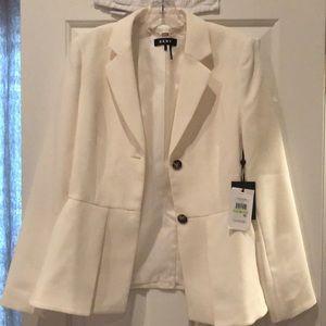 NWT DKNY Off White Blazer Size 4